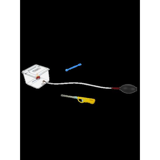 TP 6029 Zestaw laboratoryjny do badania zjawiska eksplozji (wybuchu pyłu), zasada gaszenia ognia